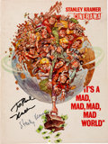 "Movie/TV Memorabilia:Documents, A Stanley Kramer and Sid Caesar Signed Program from ""It's A Mad,Mad, Mad, Mad World.""..."