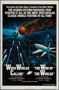 """Movie Posters:Science Fiction, When Worlds Collide/The War of the Worlds Combo (Paramount, R-1977). One Sheet (27"""" X 41""""). Science Fiction.. ..."""