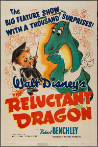 "The Reluctant Dragon (RKO, 1941). One Sheet (27"" X 41""). Animation"