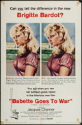"""Movie Posters:Comedy, Babette Goes to War (Columbia, 1960). One Sheet (27"""" X 41""""). Comedy.. ..."""