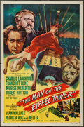 "Movie Posters:Mystery, The Man on the Eiffel Tower (RKO, 1949). One Sheet (27"" X 41"").Mystery.. ..."
