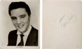 Music Memorabilia:Autographs and Signed Items, Elvis Presley Signed Black and White Promo Photo (Circa 1956.)...