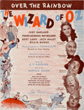 "Movie/TV Memorabilia:Documents, A Piece of Sheet Music from ""The Wizard of Oz,"" 1939.. ..."