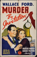 """Movie Posters:Crime, Murder by Invitation (Monogram, 1941). One Sheet (27"""" X 41""""). Crime.. ..."""