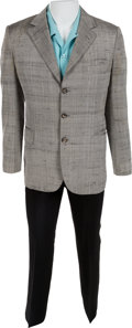 Music Memorabilia:Costumes, The Who - John Entwistle Owned Gray Suit with Blue Shirt....