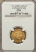 German States:Hamburg, German States: Hamburg. Free City gold Ducat 1796 MS62 NGC,...
