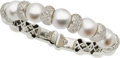 Estate Jewelry:Bracelets, Diamond, South Sea Cultured Pearl, White Gold Bracelet. ...