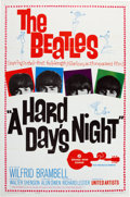 Music Memorabilia:Posters, Beatles Hard Days Night One Sheet Poster (UA, 1964)....