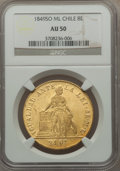 Chile, Chile: Republic gold 8 Escudos 1849 So-ML AU50 NGC,...