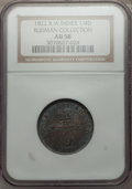 British West Indies, British West Indies: British Colony 1/4 Dollar 1822 AU58 NGC,...
