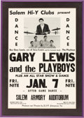 Music Memorabilia:Posters, Gary Lewis and the Playboys Concert Poster in Framed Display(1966)....