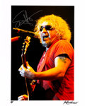Music Memorabilia:Autographs and Signed Items, Sammy Hagar Signed Color Photograph by Robert Knight....