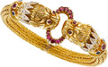 Estate Jewelry:Boxes, Ruby, Diamond, Sapphire, Gold Bracelet, Lalaounis. ...