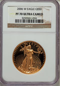 Modern Bullion Coins, 2006-W G$50 One-Ounce Gold Eagle PR70 Ultra Cameo NGC. NGC Census: (2056). PCGS Population (0). Numismedia Wsl. Price for ...