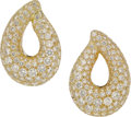 Estate Jewelry:Earrings, Diamond, Platinum, Gold Earrings, Kalich . ...