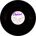 "Music Memorabilia:Recordings, Cilla Black Beatles' Penned ""It's For You"" Single Acetate (Capitol,1964)...."