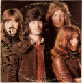 Music Memorabilia:Autographs and Signed Items, Badfinger Autographed Straight Up Album (Apple 3387, 1972)....