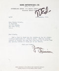 Music Memorabilia:Autographs and Signed Items, George Harrison Typed Letter Signed to 16 Magazine's GloriaStavers (1965). ...