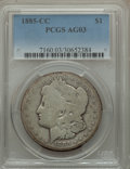 1885-CC $1 AG3 PCGS. PCGS Population (17/19416). NGC Census: (0/9743). Mintage: 228,000. Numismedia Wsl. Price for probl...