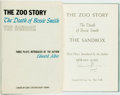 Books:Literature 1900-up, Edward Albee. SIGNED. The Zoo Story, The Death of Bessie Smith, The Sandbox. Three Plays. New York: Coward-McCann, [...