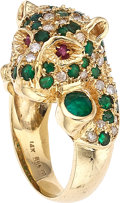Estate Jewelry:Rings, Diamond, Ruby, Emerald, Gold Ring. ...