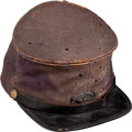 Military & Patriotic:Civil War, Officer's Forage Cap With Original 68th Infantry Insignia...