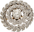 Estate Jewelry:Necklaces, Edwardian Diamond, Platinum-Topped Gold Pendant-Brooch. ...