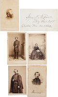 Photography:CDVs, Four Union General Cartes de Visite with Union General Isaac F. Shephard Signature....
