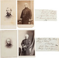 Photography:CDVs, Four Union Cartes de Visite: General Absalom Blaird; Commodore George S. Blake (with clipped signature); General Egb... (Total: 4 )