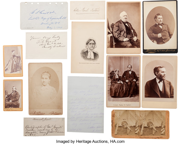 PhotographyCabinet Photos Ulysses S Grant Family Photographs And Signatures