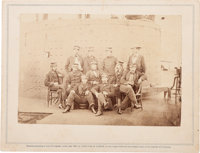 """""""Officers on board the Monitor"""" Brady Album Gallery Card"""