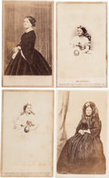 Photography:CDVs, Four Mary Lincoln Cartes de Visite....
