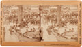 """Photography:Stereo Cards, """"General Grant's Council of War"""" Stereoview...."""