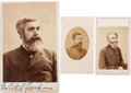 Photography:Cabinet Photos, Union General Walter Quintin Gresham Cabinet Card Signed withCarte de Visite....