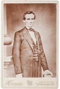 Photography:Cabinet Photos, Abraham Lincoln Cabinet Card....