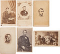 Photography:CDVs, Six Abraham Lincoln Cartes de Visite....