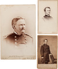 Photography:CDVs, Three Union General Wesley Merritt Photographs: Two Cartes deVisite and One Cabinet Card....