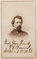 Photography:CDVs, Union Colonel Theodore Bowers Carte de Visite Signed....
