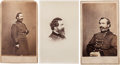 Photography:CDVs, Three Union General John Sedgwick Cartes de Visite....