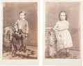 Photography:CDVs, Cartes de Visite of Jesse Root Grant II and Friend, 1863....