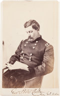 Photography:CDVs, Signed Major General John B. McClellan Carte de Visite....