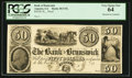 Obsoletes By State:Georgia, Augusta, GA- Bank of Brunswick $50 UNL Proof. ...