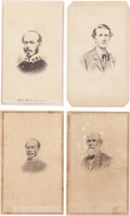 Photography:CDVs, Lot of Four Lithograph Cartes de Visite of Important Confederate Officers....