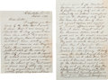Autographs:Military Figures, [Fort Sumter]. Isaac Fulkerson Autograph Letter Signed....