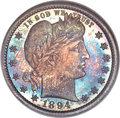 Proof Barber Quarters, 1894 25C PR68 NGC. CAC....