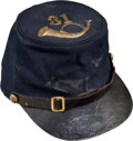 Military & Patriotic:Civil War, Great Forage Cap With Original Insignia of the 31st Infantry Regiment...