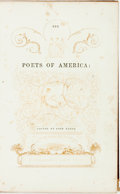 Books:Literature Pre-1900, [Inscribed by Rufus Dawes] John Keese, editor. The Poets ofAmerica. New York: S. Colman, 1840. First edition. Ins...