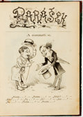 Books:Literature Pre-1900, Author Unknown. Small Russian Book of Illustrations. [N.p., n.d.].Half leather. Scuffing and rubbing to extremities. Very g...