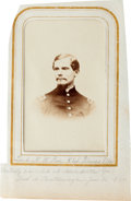 Military & Patriotic:Civil War, Civil War Carte de Visite of Lieutenant Noah W. Rae, Mortally Wounded at Adairsvile, Georgia....