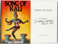 Books:Literature 1900-up, Dan Simmons. SIGNED. Song of Kali. Bluejay Books, [1985]. First edition thus. Signed by the author. Publisher's ...